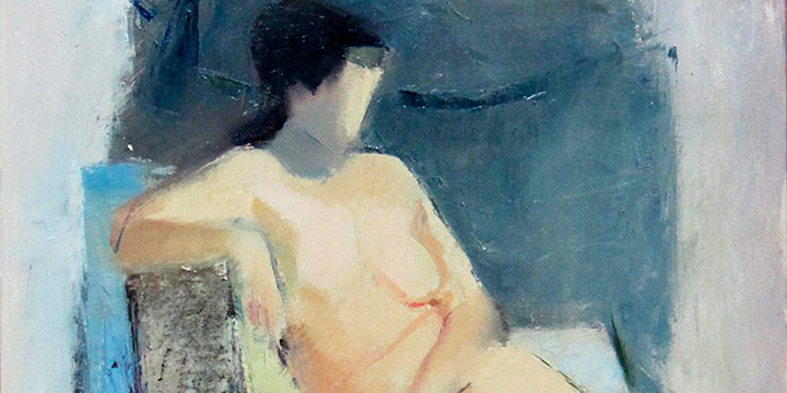 Milton Wolsky, Seated Nude, oil on canvas, 1952