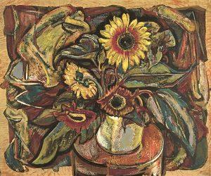 Dwight Kirsch, Sunflowers, silkscreen (edition 44), n.d.