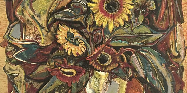 Dwight Kirsch, Sunflowers, silkscreen (edition 44), n.d.
