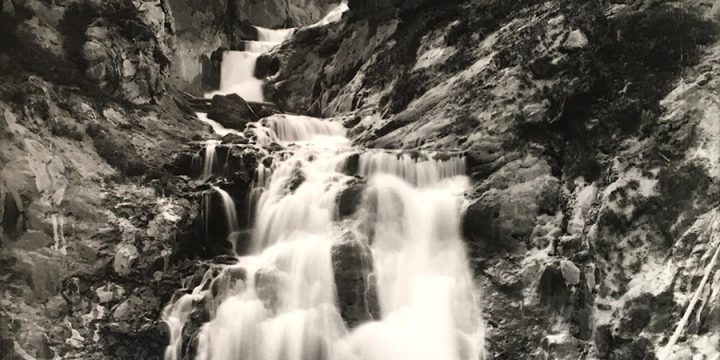 William Henry Jackson, Yellowstone, Little Fire Hole Falls, black & white photograph (from an image in the Nebraska State Historical Society Collection?)