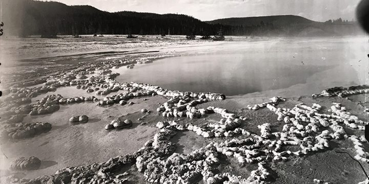 William Henry Jackson, Yellowstone, The Sapphire, black & white photograph (from an image in the Nebraska State Historical Society Collection?)