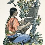 Dale Nichols, Mayan Back-Strap Weaver, lithograph, 1965