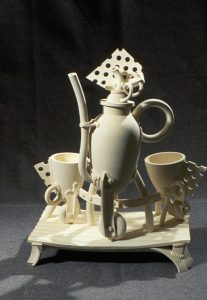 Jake Jacobson, Tea Set, porcelain, 1990