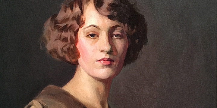 J. Laurie Wallace, Portrait of a Woman, oil, n.d.