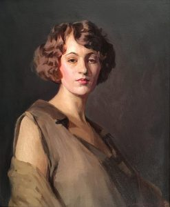 J. Laurie Wallace, Portrait of a Woman, oil, n.d.