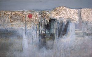 Don Beardsley, Dance of the Red Eyed Cloud, oil, enamel on board, 1963
