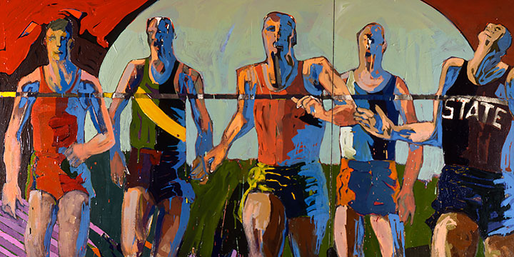 Dash, James Eisentrager, oil on canvas, 1966