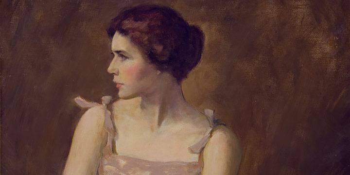 Grant Reynard, Gwen, oil on canvas, 1929