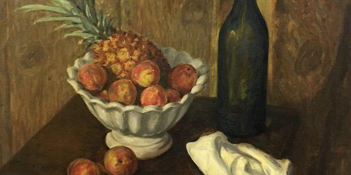 Grant Reynard, Still Life with Pineapple, oil on canvas, n.d.
