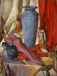Leonard Thiessen, Still Life with Blue Vase, oil on canvas, 1938-1940, 1979