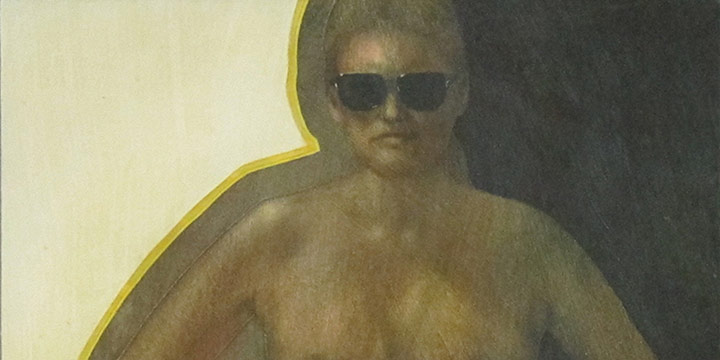 Allan Tubach, Sunshine Girl , acrylic on board, 1971