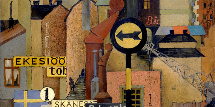 Leonard Thiesson, Stockholm Synthesis, oil on panel, 1937