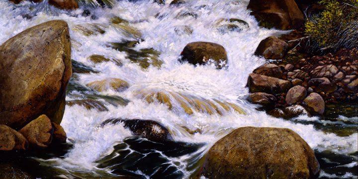 Don Dernovich, Confluence, oil on canvas, 1988