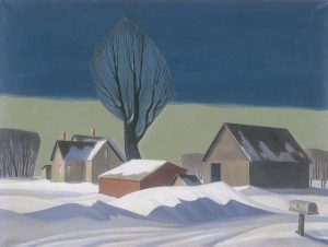 DaleNichols b. 1904 David City, Nebraska d. 1995 Sedona, Arizona After the Blizzard, 1967 oil on canvas 1967 Gift of Eloise (Dierks) Andrews Kruger and Miller & Paine/R.E. Campbell Collection