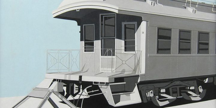 Tim Aldrup, Track 28, oil on canvas, n.d.