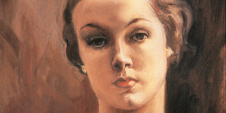 Zanna Anderson, Untitled (female portrait in brown), oil on canvas, n.d.