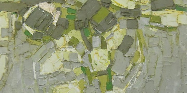 William Wolfram, Untitled (impasto nonobjective), oil on canvas, 1964