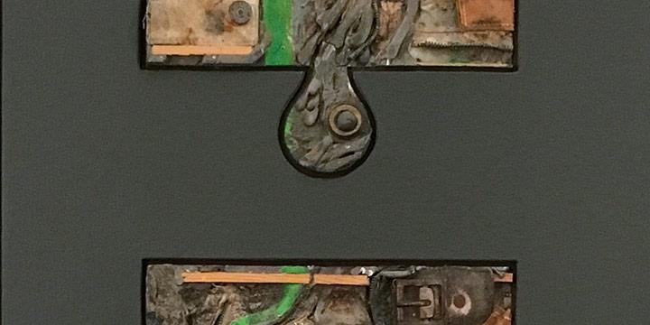 William Wolfram, Black Series: Untitled (Levi), collage, 1972