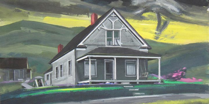 Robert Allaway, The House of E. J. Smith, gouache, 1985