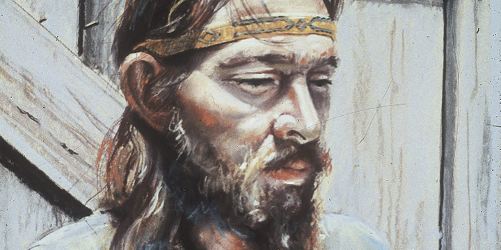 Marilyn Blechner, Portrait of Tom, pastel