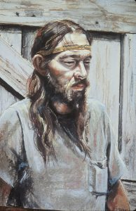 Marilyn Blechner, Portrait of Tom, pastel