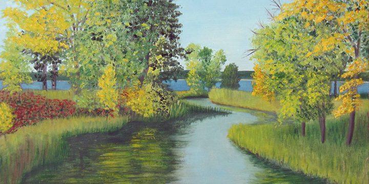 Mercedes Augustine, Untitled (landscape), oil on board