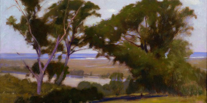 J. Laurie Wallace, Unfinished Landscape, oil on canvas
