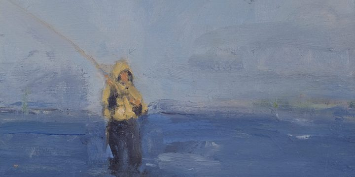 Stephen Dinsmore, The Caster, oil on wood, 1997
