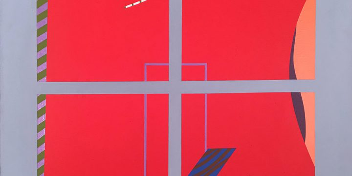 Peter Hill, Windows IV, acrylic on canvas, 1975