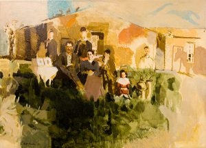 David Routon, Sodhouse Family, oil on canvas, n.d.
