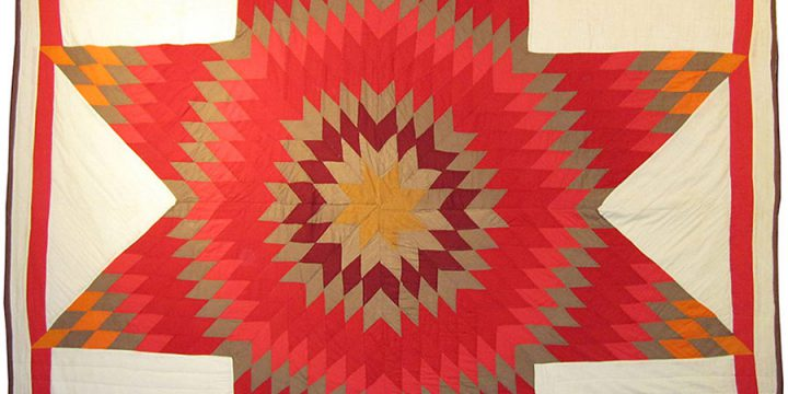 Nallie Two Bulls, Lakota (Sioux) Star Quilt, cotton - hand and machine stitched, c. 1974