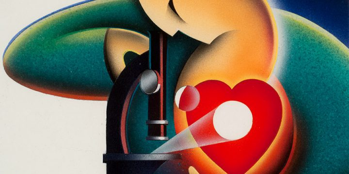 Sandy Appleoff, Ticker Time 2, gouache, 2002