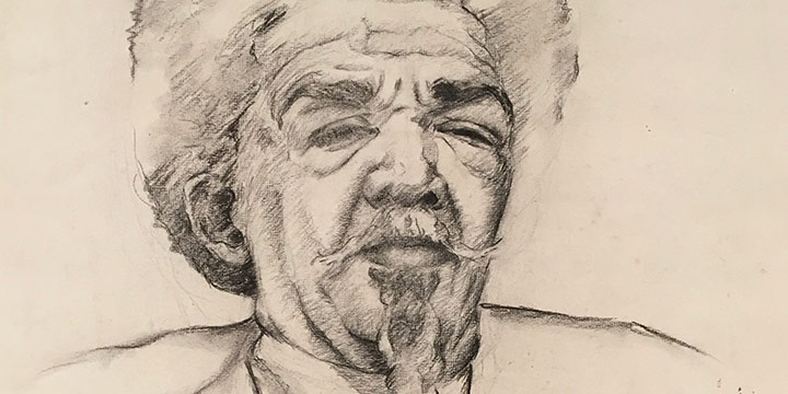 Kathleen Parks Adkison, Untitled (man), graphite, 1940