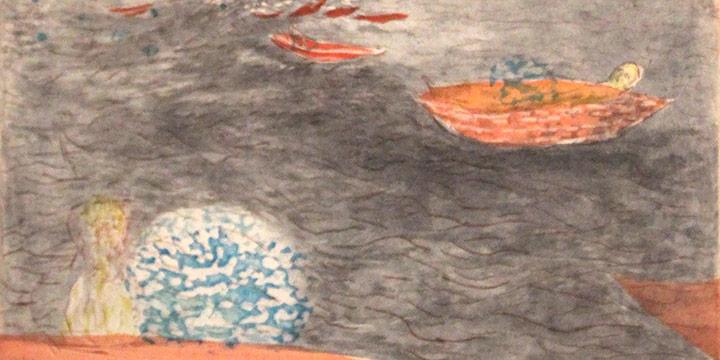 Tara Sabharwal, Drifting Back, etching
