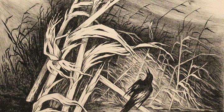 Jenne Magafan, Cornstalks, lithograph (edition of 10)