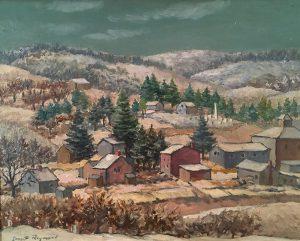 Grant Reynard, Village in Winter, oil on board, n.d.