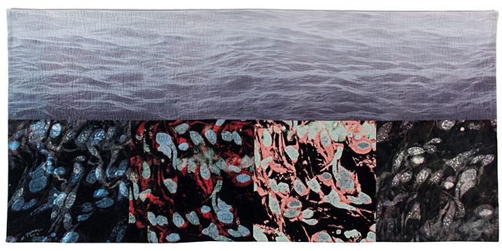 Michael James; Controlled Release; cotton & dyes, machine-pieced, machine-quilted; 2012