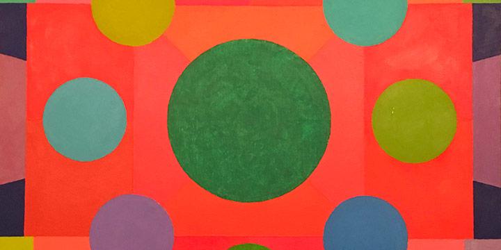 Gail Hammon Butt, Lotus Mandala, oil on canvas, n.d.