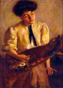 Alice Cleaver, Girl with Palette, oil, n.d.