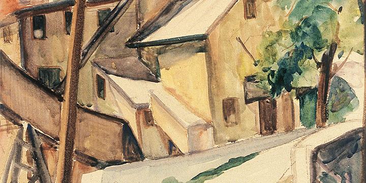 Katherine (Kady) Burnap Faulkner, The Barley Mill, watercolor, 1935