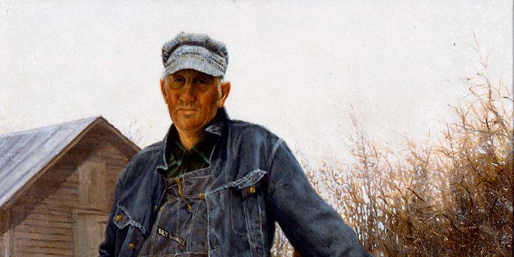 Gerald Farm, Elmer – A Nebraska Farmer, Gerald Farm, oil on canvas, 1968
