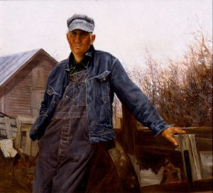 Gerald Farm, Elmer – A Nebraska Farmer, Gerald Farm, oil on canvas, 1968