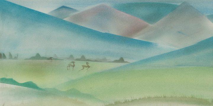 Katherine (Kady) Burnap Faulkner, Apres D' Faun, watercolor, 1935