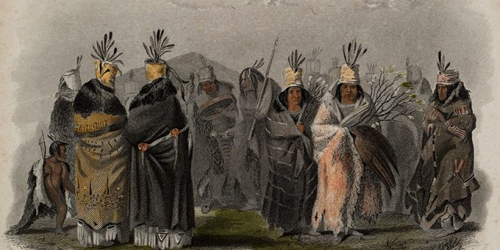 Karl Bodmer, Mandan Women, engraving with aquatint, c. 1947