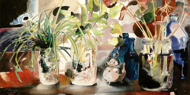 Kenneth Bassett, Winter Cuttings, watercolor, 1994