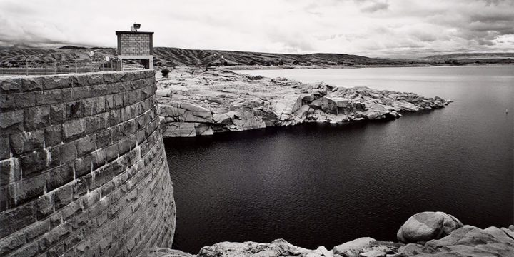 Michael Farrell, Pathfinder Dam and Reservoir on the North Platte River, Natrona County, Wyoming. 1994, silver print