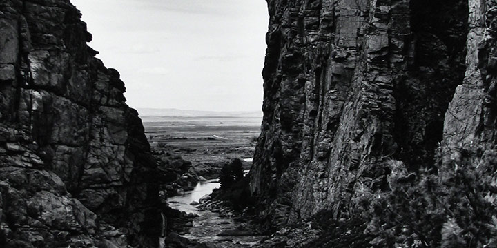 Michael Farrell, The Devil's Gate on the Sweetwater River - a Tributary of the North Platte. 1997, silver print, 1997