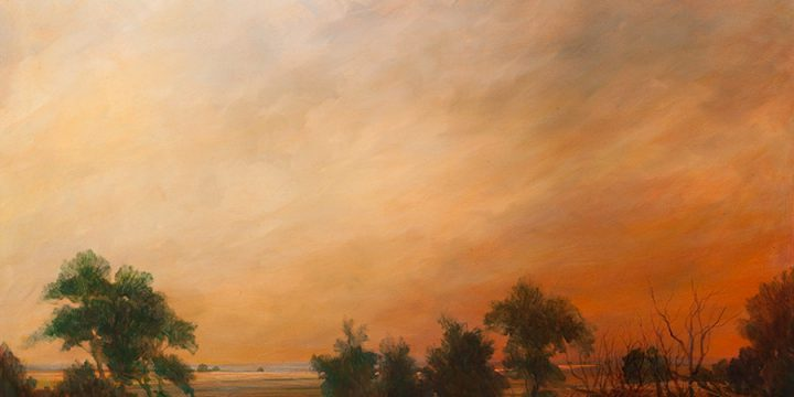 Keith Lowry, Late August Evening, oil on canvas, n.d.