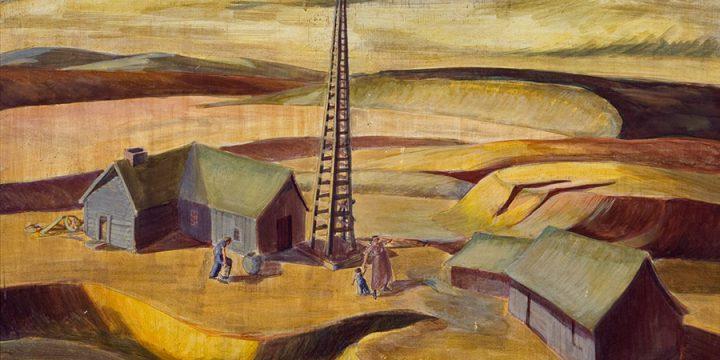 Katherine (Kady) Burnap Faulkner, BWill It Never Rain?, egg oil tempera on linen, 1937