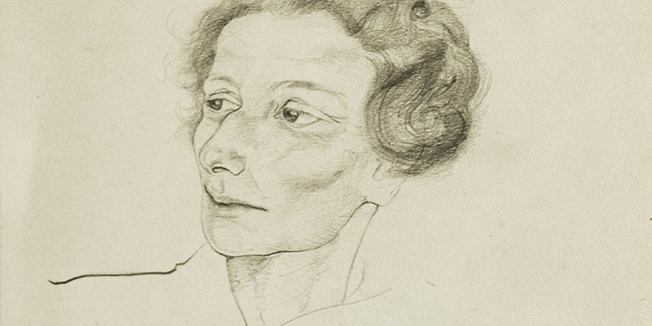 Mary Elizabeth (Emmy) Gifford, Hildegarde, Our Guide in Germany, graphite, 1930